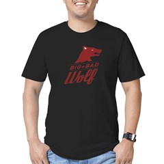 Big Bad Wolf Men's Fitted T-Shirt (dark)