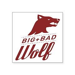 Big Bad Wolf Square Sticker 3