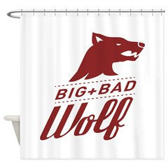 Big Bad Wolf Shower Curtain