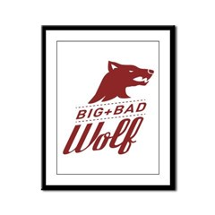 Big Bad Wolf Framed Panel Print