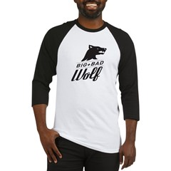 B&W Big Bad Wolf Baseball Jersey