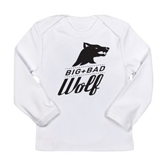 B&W Big Bad Wolf Long Sleeve Infant T-Shirt