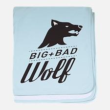 B&W Big Bad Wolf baby blanket