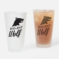 B&W Big Bad Wolf Drinking Glass