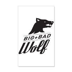 B&W Big Bad Wolf Wall Decal