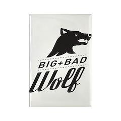 B&W Big Bad Wolf Rectangle Magnet