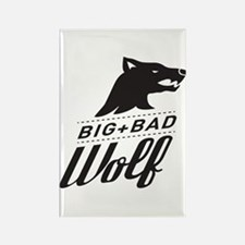 B&W Big Bad Wolf Rectangle Magnet