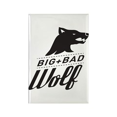 B&W Big Bad Wolf Rectangle Magnet (100 pack)