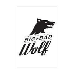 B&W Big Bad Wolf Posters