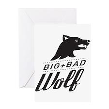 B&W Big Bad Wolf Greeting Card