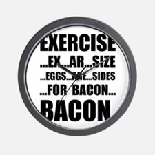 Exercise Bacon Wall Clock