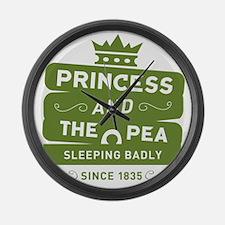 Princess & the Pea Since 1835 Large Wall Clock