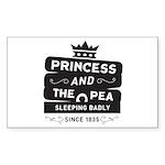 Princess & the Pea Since 1835 Sticker (Rectangle 5