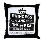 Princess & the Pea Since 1835 Throw Pillow