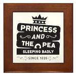 Princess & the Pea Since 1835 Framed Tile
