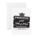 Princess & the Pea Since 1835 Greeting Cards (Pk o