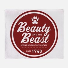Beauty and the Beast Since 1740 Throw Blanket