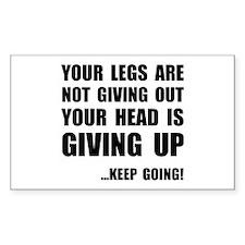 Keep Going Runner Decal