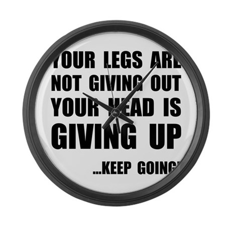 Keep Going Runner Large Wall Clock