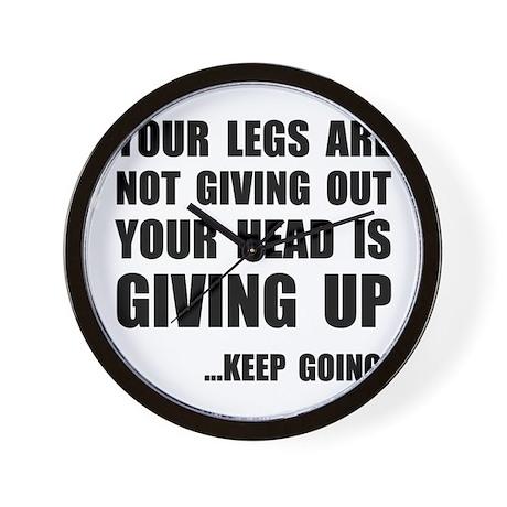 Keep Going Runner Wall Clock