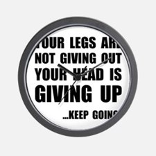 Keep Going Runner Wall Clock