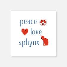 "Sphynx Cat Square Sticker 3"" x 3"""