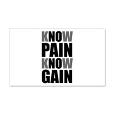 Know Pain Gain Wall Decal