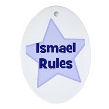 Ismael Rules Oval Ornament