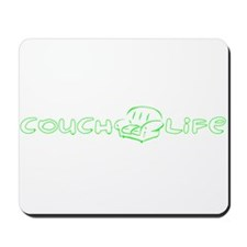 Couch Life (Green) Mousepad