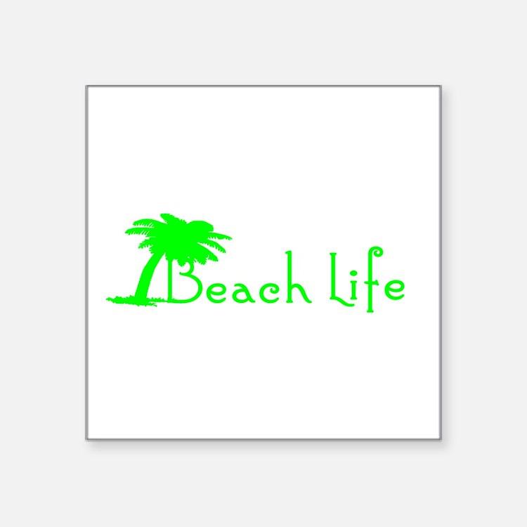 Beach Life (Green) Sticker