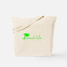 Beach Life (Green) Tote Bag