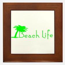 Beach Life (Green) Framed Tile
