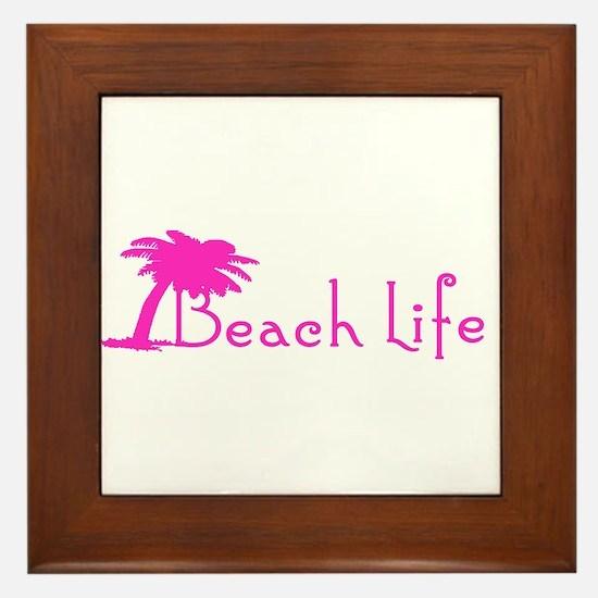 Beach Life (Pink) Framed Tile