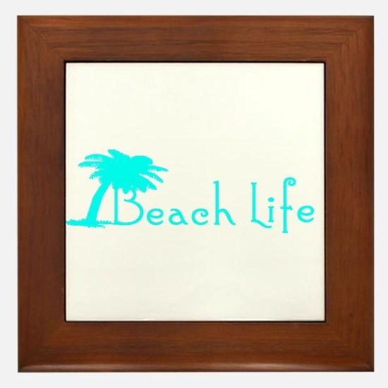 Beach Life (Turquoise) Framed Tile