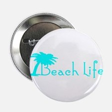 """Beach Life (Turquoise) 2.25"""" Button"""