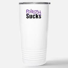 Epilepsy Sucks Stainless Steel Travel Mug