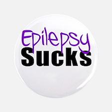 """Epilepsy Sucks 3.5"""" Button"""