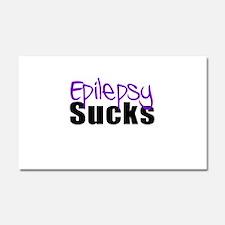 Epilepsy Sucks Car Magnet 20 x 12