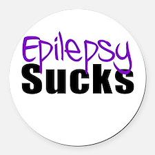 Epilepsy Sucks Round Car Magnet