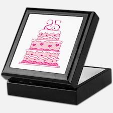 25th Anniversary Cake Keepsake Box