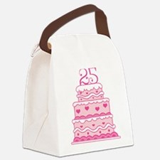 25th Anniversary Cake Canvas Lunch Bag