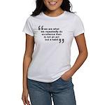 Women's T-Shirt Quote - Aristotle