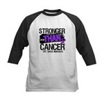 Stronger Than GIST Cancer Kids Baseball Jersey