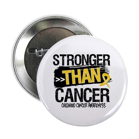 """Stronger Than Childhood Cancer 2.25"""" Button (10 pa"""