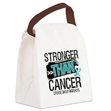 Stronger Than Cervical Cancer Canvas Lunch Bag