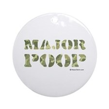 Major Poop Ornament (Round)