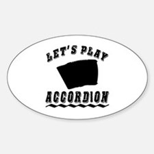 Let's Play Accordion Decal