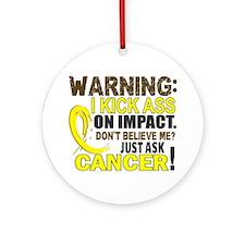 Kick Ass On Impact Testicular Cancer Ornament (Rou