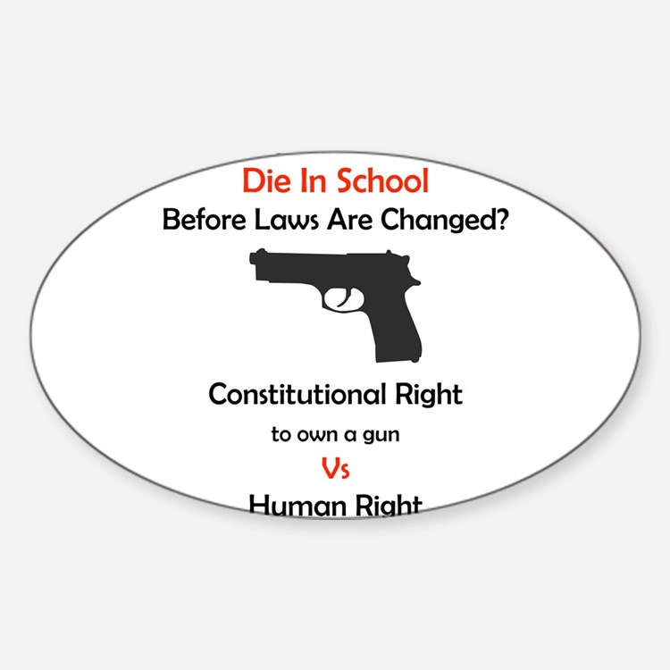 Stop School Shootings Rectangle Decal