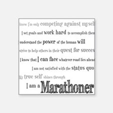 I Am a Marathoner Rectangle Sticker